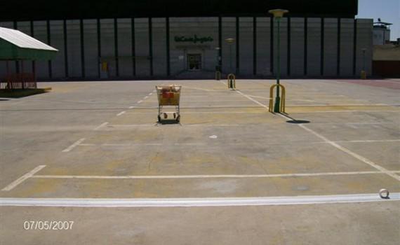 Sellados parking superior Nuevo Centro