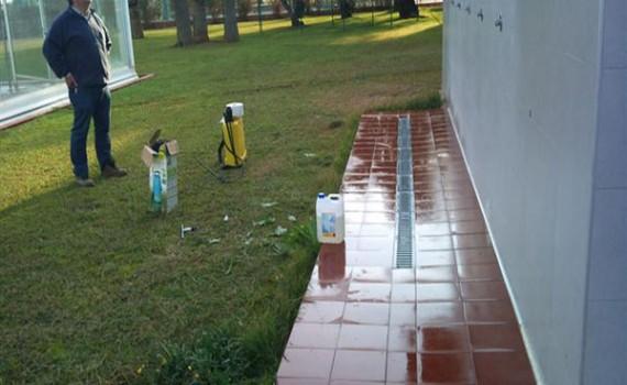 Antideslizante piscina